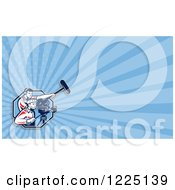 Clipart Of A Retro Camera Man And Boom Operator Background Or Business Card Design Royalty Free Illustration