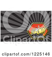 Clipart Of A Cement Mixer Truck Driver Background Or Business Card Design Royalty Free Illustration by patrimonio
