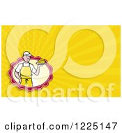 Clipart Of An Artisian Cheese Maker Background Or Business Card Design Royalty Free Illustration by patrimonio