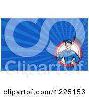 Clipart Of A Chimney Sweep Background Or Business Card Design Royalty Free Illustration by patrimonio