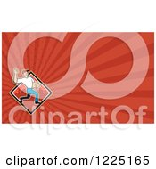 Clipart Of A Delivery Man Background Or Business Card Design Royalty Free Illustration by patrimonio
