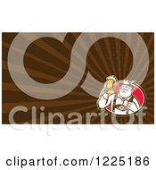 Clipart Of A Retro German Man With Beer Background Or Business Card Design Royalty Free Illustration