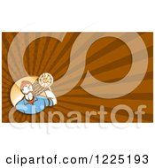 Clipart Of A Retro Lumberjack Background Or Business Card Design Royalty Free Illustration