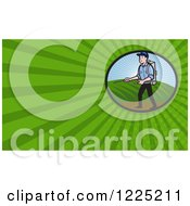 Clipart Of A Man Spraying Fertilizer Background Or Business Card Design Royalty Free Illustration