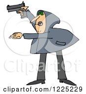 Armed Robber Man In A Hoodie