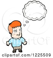 Clipart Of A Thinking Red Haired Man Royalty Free Vector Illustration