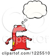 Thinking Scared Red Frog
