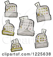 Clipart Of Cash Registers Royalty Free Vector Illustration by lineartestpilot