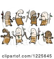 Clipart Of Cave Men Royalty Free Vector Illustration by lineartestpilot