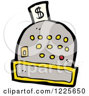 Clipart Of A Cash Register Royalty Free Vector Illustration