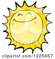Clipart Of A Smiling Sun Royalty Free Vector Illustration by lineartestpilot