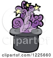 Clipart Of A Magical Top Hat Royalty Free Vector Illustration