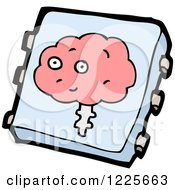 Clipart Of A Brain Implant Chip Royalty Free Vector Illustration by lineartestpilot