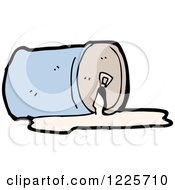 Clipart Of A Spilled Canned Beverage Royalty Free Vector Illustration