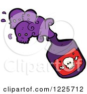 Clipart Of A Bottle Of Poison With Skull Royalty Free Vector Illustration