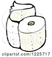 Clipart Of A Roll Of Toilet Paper Royalty Free Vector Illustration by lineartestpilot