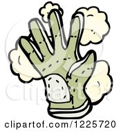 Clipart Of A Dusty Gardening Glove Royalty Free Vector Illustration
