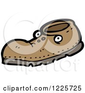 Clipart Of A Shoe With Eyes Royalty Free Vector Illustration by lineartestpilot