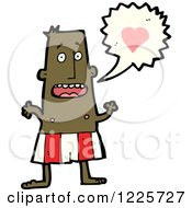 Clipart Of A Man Talking About Love Royalty Free Vector Illustration by lineartestpilot