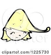 Clipart Of A Happy Blond Girl Royalty Free Vector Illustration by lineartestpilot