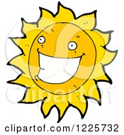 Clipart Of A Grinning Sun Royalty Free Vector Illustration by lineartestpilot