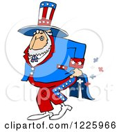 Clipart Of Uncle Sam Farting Royalty Free Vector Illustration by djart