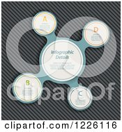 Clipart Of A Metaball Infographic Over Metal Royalty Free Vector Illustration by elaineitalia
