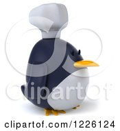 Clipart Of A 3d Penguin Chef Facing Right Royalty Free Illustration
