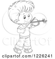 Outlined Boy Violinist