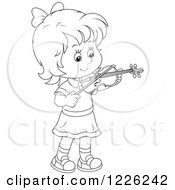 Outlined Girl Violinist