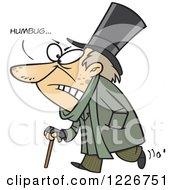 Cartoon Grumpy Scrooge Saying Humbug