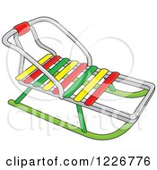 Clipart Of A Traditional Sled Royalty Free Vector Illustration