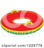 Clipart Of A Snow Inner Tube Royalty Free Vector Illustration