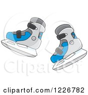 Clipart Of Ice Skates Royalty Free Vector Illustration by Alex Bannykh