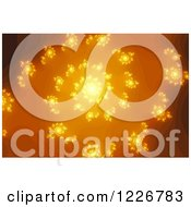 Clipart Of A Golden Fractal Spiral Royalty Free Illustration