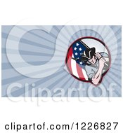 Clipart Of A American Patriot Minuteman Background Or Business Card Design Royalty Free Illustration