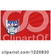 Clipart Of A Shield And American Football Referee Background Or Business Card Design Royalty Free Illustration by patrimonio