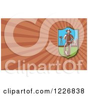 Clipart Of A Farmer Background Or Business Card Design Royalty Free Illustration