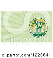 Clipart Of A Farmer And Lettuce Background Or Business Card Design Royalty Free Illustration