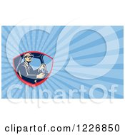 Clipart Of A Truck Driver Background Or Business Card Design Royalty Free Illustration by patrimonio