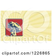 Clipart Of A Car Mechanic Background Or Business Card Design Royalty Free Illustration