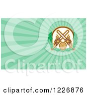 Clipart Of A Chainsaw And Log Background Or Business Card Design Royalty Free Illustration by patrimonio