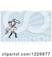 Handy Man With A Paintbrush Background Or Business Card Design