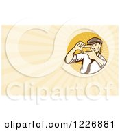 Clipart Of A Movie Director Background Or Business Card Design Royalty Free Illustration by patrimonio