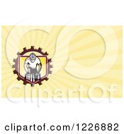 Clipart Of A Cyclist Crossfit Man Background Or Business Card Design Royalty Free Illustration