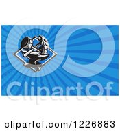 Clipart Of A Sledgehammer Dumbbell And Anvil Background Or Business Card Design Royalty Free Illustration