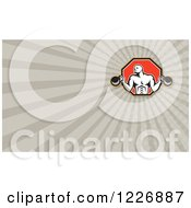 Clipart Of A Crossfit Man With Kettlebells Background Or Business Card Design Royalty Free Illustration