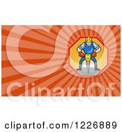 Clipart Of A Construction Worker Using A Jackhammer Background Or Business Card Design Royalty Free Illustration by patrimonio