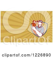 Clipart Of A Refrigeration Mechanic Background Or Business Card Design Royalty Free Illustration