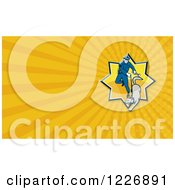 Clipart Of A Police Officer And Dog Background Or Business Card Design Royalty Free Illustration